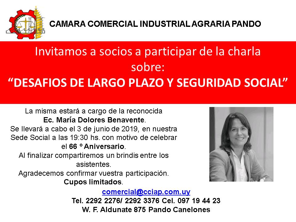 Imagen de Invitación a charla sobre Desafíos a largo plazo y Seguridad Social - CCIAP