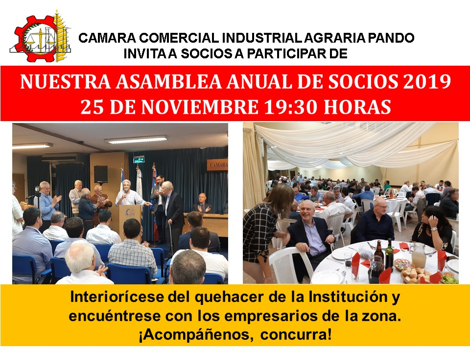 Invitación Asamblea General Ordinaria de la CCIAP 2019