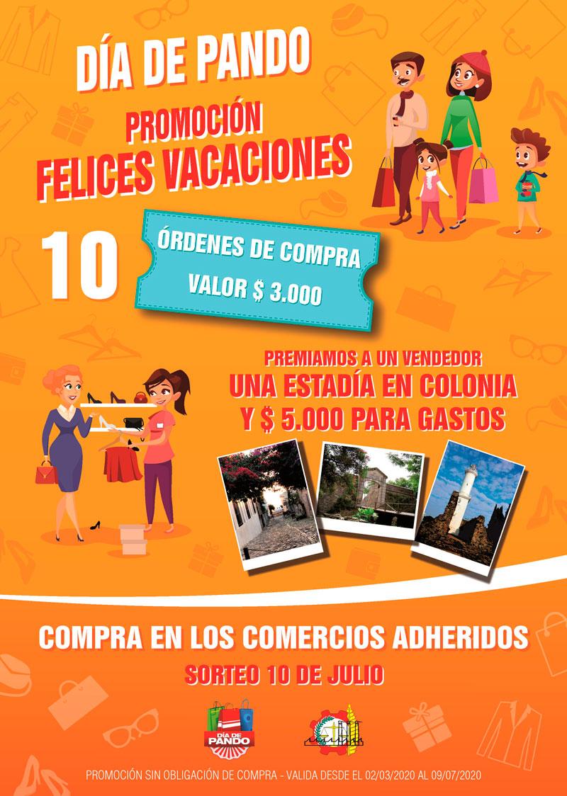 Afiche Promoción Felices Vacaciones - Día de Pando - CCIAP