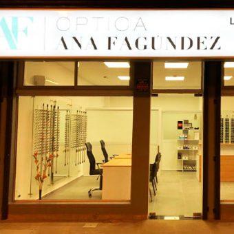 Imagen fachada local - Convenio CCIAP - Óptica Ana Fagúndez