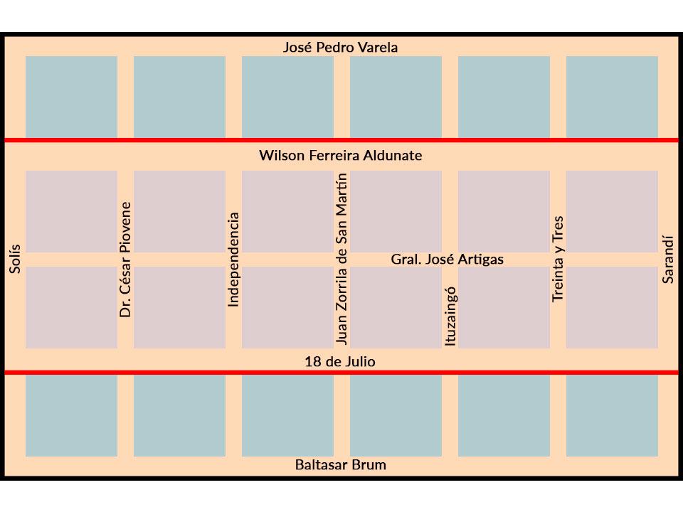 Zona estacionamiento tarifado Pando