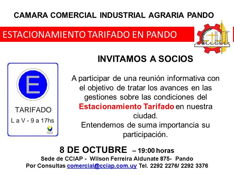 Invitación Reunión Informativa Estacionamiento Tarifado - CCIAP