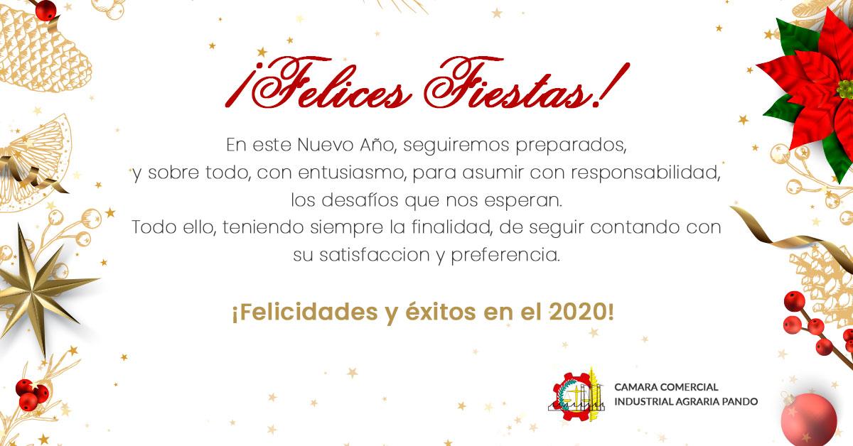 Banner Felices Fiestas 2019 - CCIAP