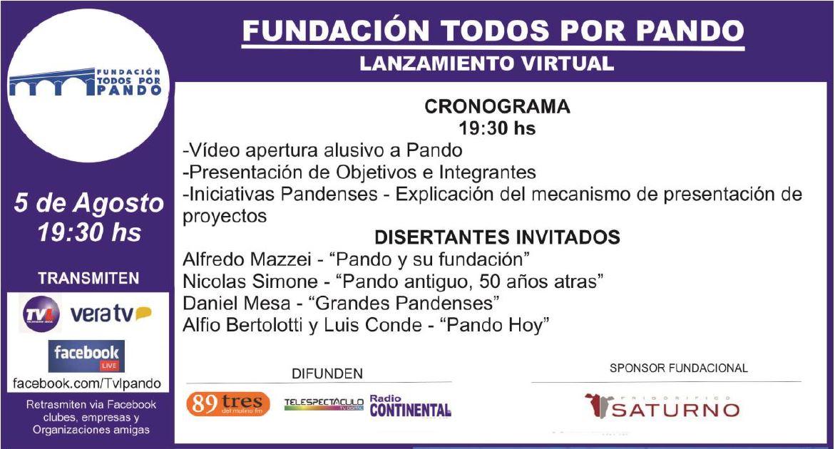 Invitación Lanzamiento Fundación Todos por Pando - CCIAP