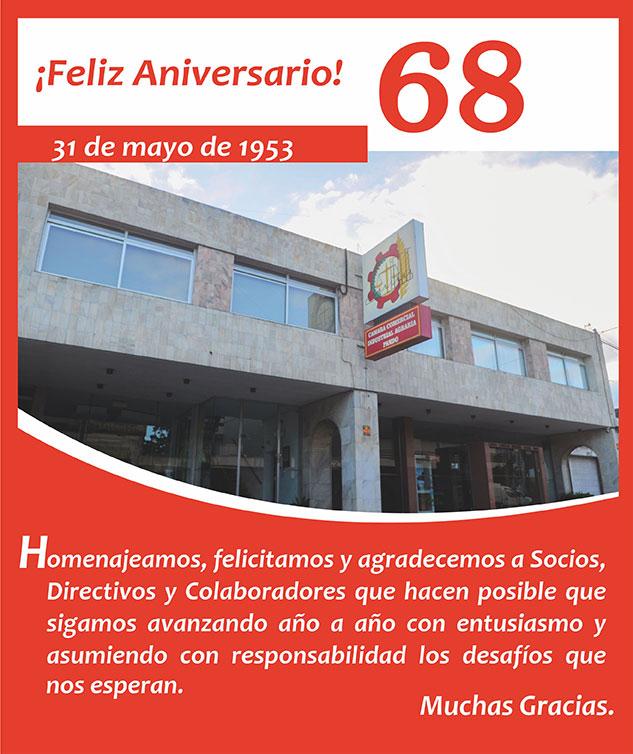 Mensaje, Agradecimiento y saludo por Aniversario 69 de CCIAP